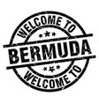 welcome to bermuda black stamp vector image vector image