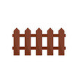 wood fence icon flat style vector image vector image