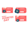 world diabetes day infographics template vector image
