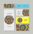 business cards design floral mandala vector image