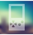 video game icon on blurred background vector image