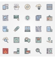 Internet security flat icons vector image