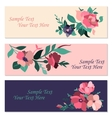 Set of invitation cards with flowers vector image