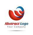 Abstract Logo Design Template Creative Concept vector image