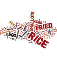 egg fried rice text background word cloud concept vector image