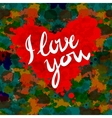heart i love you colorful paint splash background vector image