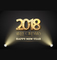 2018 new year count symbol with spotlights