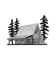 a frame lodge vector image vector image