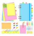 a set of chancery closed notebook on a spiral vector image vector image