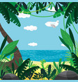 about summer beach plants sea sky vector image vector image