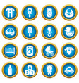 baby born icons set simple style vector image vector image