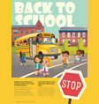 Back To School Safety Flayer depicting School bus vector image vector image
