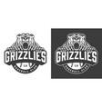 baseball club ferocious bear mascot logo vector image vector image