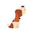 beagle dog howling cute funny animal cartoon vector image vector image