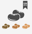 beans seed isolated icon dried fruit icon vector image