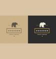 bear logo emblem silhouette vector image