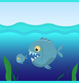 big fish eat small fish vector image vector image