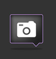black photo icon vector image vector image
