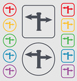 Blank Road Sign icon sign Symbols on the Round and vector image