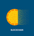blockchain cryptocurrency concept vector image vector image