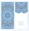 blue colour decorative label card for vintage vector image