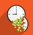 broke time waste money vector image vector image