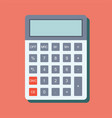 calculator icon in flat style vector image