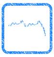 candlestick graph falling acceleration framed vector image vector image