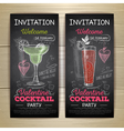 Chalk drawing cocktail valentine party poster vector image vector image