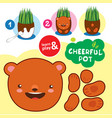 chefull pot educational task for children paint vector image