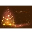 christmas tree card abstract vector image vector image