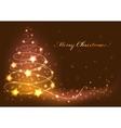 christmas tree card abstract vector image vector image
