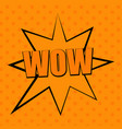 comic trendy mono orange template vector image vector image