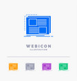content design frame page text 5 color glyph web vector image