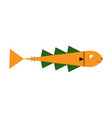 cute fish cartoon icon vector image