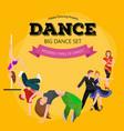 Dancing People Dancer Bachata Hiphop Salsa vector image vector image