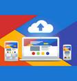 development adaptive design and a cloud service vector image