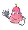 doctor rose apple character cartoon vector image vector image
