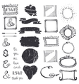 Doodle decor element ampersandcatchword set vector image vector image