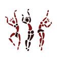 Figures of African dancers vector image vector image