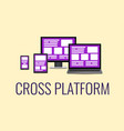 flat concept cross platform design vector image