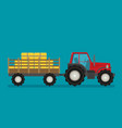 flat tractor with semi-trailer icon isolated vector image vector image