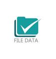 fle data checkmaerk logo vector image