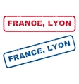France Lyon Rubber Stamps vector image vector image