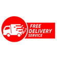 free delivery service icon white background vector image