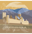 Georgia landmarks Retro styled image vector image vector image