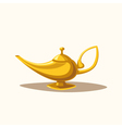 Golden magic lamp Fable Cartoon vector image vector image