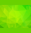 green background with triangles vector image vector image