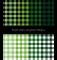 green lumberjack pattern collection vector image vector image