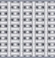 grunge check 3d greek seamless pattern vector image